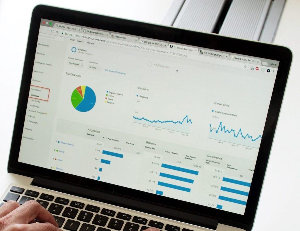 Målspårning i Google Analytics för e-handel